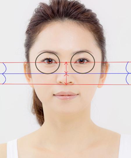 眼輪筋の範囲の説明画像