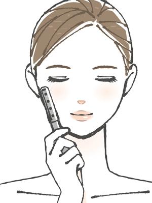 ローラータイプの美顔器の画像