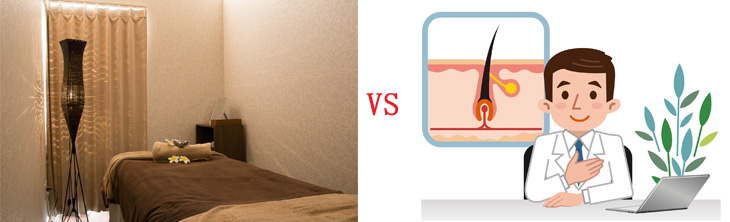 エステサロンと美容皮膚科の違いのイメージ画像