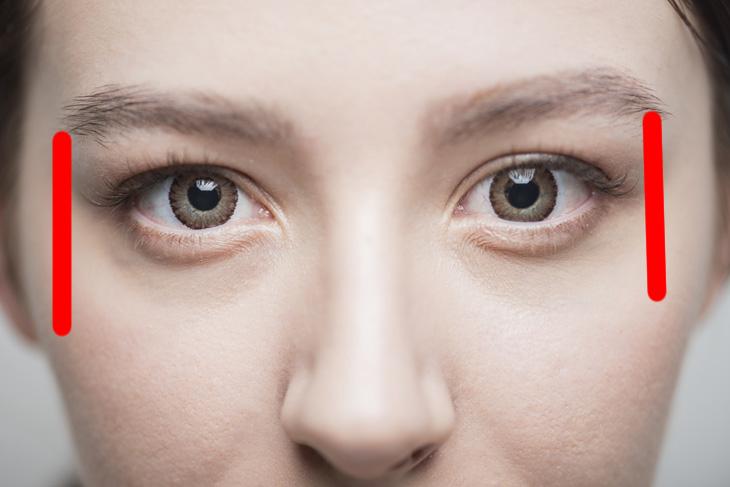 シワを防ぎながら眼輪筋を鍛える説明画像
