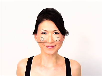 若い顔の頬の位置の解説画像