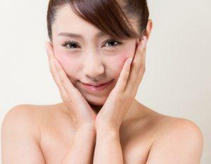 美肌の女性の画像