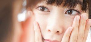 輪郭による顔のタルミに悩む女性の画像