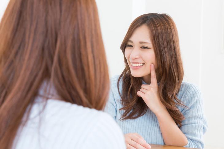 サプリメントの効果を実感する女性の画像